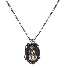 Unisex Steampunk Vintage Alloy Lady Skeleton Pendant Chain Necklace Jewelry - Intl