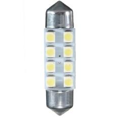 Universal - 1 pair / (2 pcs) Lampu LED Mobil Festoon / Double Wedge C5W 8 SMD 1210/3528 - 39mm White