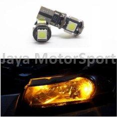 Universal - 1 pair / 2 pcs Lampu LED Senja T10 w5w / Wedge Side Canbus 5 SMD 5050 - Yellow