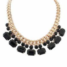 Universal - Kalung Korea Collier Statement Necklace - Black