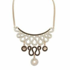 Universal - Ribbon Necklace - Gold Choco
