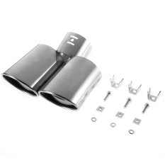 USTORE New Stainless Steel Exhaust Pipe Car Exhaust Muffler Exhaust Silencer