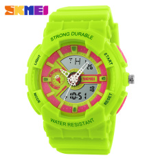 V SHOW 2016 Fashion Women Sports Watches Silicone Candy Colored Men'scasual Quartz Watch Student Watch (Green) - Intl