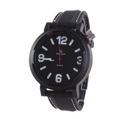 Autoleader V6 215 Men's Casual Black Leather Analog Quartz Wrist Watch (Intl)
