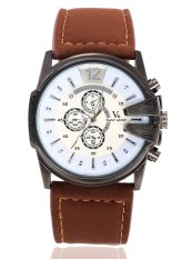 V6 Casual Quartz Military Watch JY3075 (Brown)