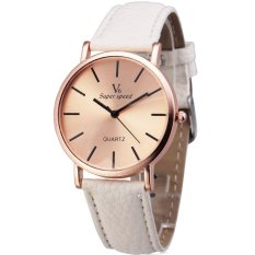 V6 - Jam Tangan Unisex - Putih - Strap Leather - V6 Casual Watch