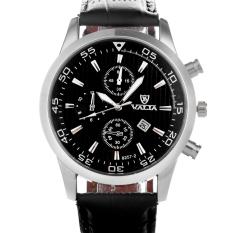 Valia 8257 Analog Quartz Round Dial Wrist Watch For Men - Black - Intl