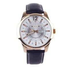 Vanki ORKINA W003 Fashionable Men's Simple Calendar Quartz Analog Wrist Watch - Black + Golden + White (Intl)