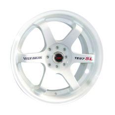 Velg Mobil Replika Volkrays TE37 SL White 14 inch PCD 4x100 / 4x114.3 - GRATIS Pasang / Kirim JABODETABEK