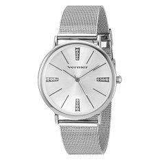 Vernier Women's Quartz Metal And Alloy Dress Watch, Color:Silver-Toned (Model: VNR11200SS)