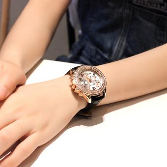 Versi Korea dari wanita baru sabuk kulit bentuk perempuan jam tangan jam tangan