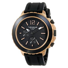 "Vestal Unisex YATCS04 ""Yacht"" Rose Gold Black Watch - Intl"