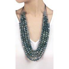 VONA Beads Niji (Denim) - Kalung Wanita Manik-manik / Jewellery Necklace For Women