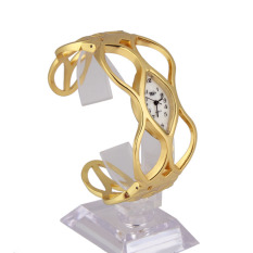 VR_Tech Unique Design Women Skeleton Bracelet Watch Gold Luxury Dress Lady Watch - intl