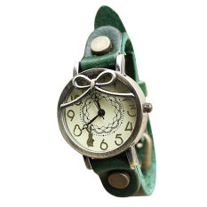 Watch Long-haired Girl Retro Leather Embossed Leather Watch Ladies Bracelet Watch Watch