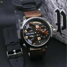 Watch Men - Police - Design Exclusive Casual - Leather Strap - Quality super