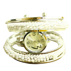 Watch Unique wound bead bracelet watch Lady fashion