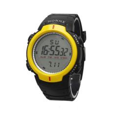 Waterproof Outdoor Mountaineering Sports Men Digital LED Quartz Wrist Watch Yellow
