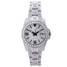 wedzwe Davena di (DAVENA) Fashion Ladies Watch Bracelet Watch Watch Watch singles calendar Star Diamond quartz watch Lady silver watch (Silver)