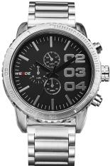 Weide Men's Silver Stainless Steel Fashion Belt Quartz Waterproof Watch