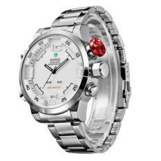 Weide Japan Quartz Miyota Men LED Sports Watch 30M Water Resistance - WH2309 (Silver)