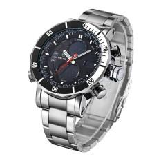 WEIDE Relogio Masculino Fashion Watch Jam Tangan Pria - Silver/Putih