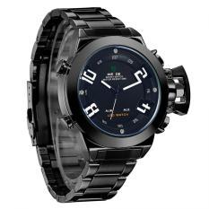WEIDE WH1008B Luxury Brand Men Military Sports Watches Men's Quartz Analog + Digital 30m water resistance Universe Series - Hitam