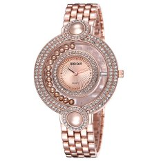 WeiQin Brand Watches Female Double Diamond Bezel Simple Bracelet Watch-Rose Gold Rose Gold (Intl)