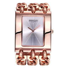 WEIQIN Brand Women Luxury Fashion Rose Gold Square Shaped Dial Bangle Watches 278105 (Silver) - Intl