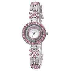 WEIQIN Flower Shape Shell Dial Flowing Beads Decoration Beauty Trend Women Dress Wrist Watches Purple - Intl