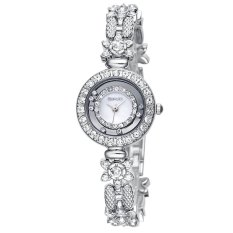 WEIQIN Flower Shape Shell Dial Flowing Beads Decoration Beauty Trend Women Dress Wrist Watches White