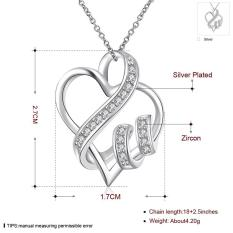 Wholesale Silver Necklace Jewelry For Women Wedding High Quality Heart Shaped Crystal - Intl