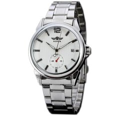 WINNER Classic Men's Stainless Steel Automatic Mechanical Mens Watch White Dial WW283