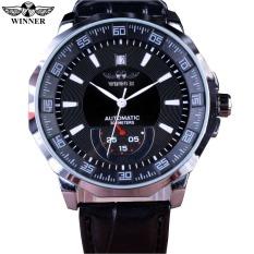 Winner Mechanical Black HIgh Quality Leather Calendar Automatic Watch Clock Men Sports Watches / / PMW011 - Intl