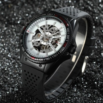 Winner Men's Watch Skeleton Automatic Self-Wind Wristwatch - intl