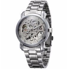 Winner U8008 Skeleton Automatic Mechanical Watch - Silver