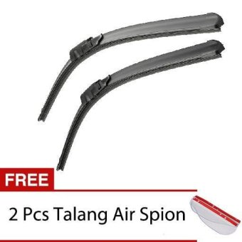 Wiper Mobil Frameless 1 Set - Nissan Livina - Free 2 Pcs Talang AirSpion Clear.