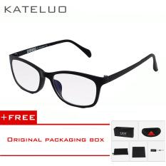 Wolfram KATELUO komputer kacamata anti laser kelelahan radiasi-tahan kacamata bingkai Eyewear tontonan Oculos 13031 (Hitam