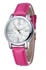 WoMaGe 2164 Casual Genuine Leather Waterproof Quartz Watch (Red) (Intl)
