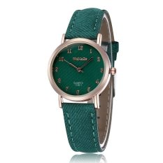 WOMAGE Blue Jeans Style Straps Women's Wrist Watch Alloy Case Analog Quartz Watches Green - Intl