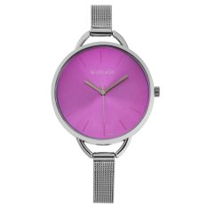 WoMaGe Thin Wire Reticularis Women's Silver Stainless Steel Strap Watch 994009 (Red) (Intl)