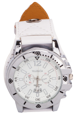 WoMaGe Vintage Style Women's White Leather Strap Watch 9322 (Intl)