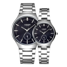 Womdee LONGBO Imported From Japan Movement Fashion Simple Dial Stainless Steel Strap Couple Watches (Intl) (Intl)