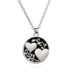 Women Fashion Jewelry Silver Alloy Coin Heart Leaf Round Pendant Necklace Best Gift For Friends Sister Girl (Intl)