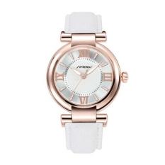 Women Girl Chic Stainless Steel Round Elastic Quartz Watch Finger Ring Watch 5 (Intl)