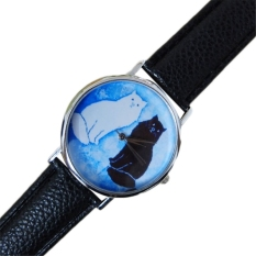 Women Girl Chic Stainless Steel Round Elastic Quartz Watch Finger Ring Watch 6 (Intl)