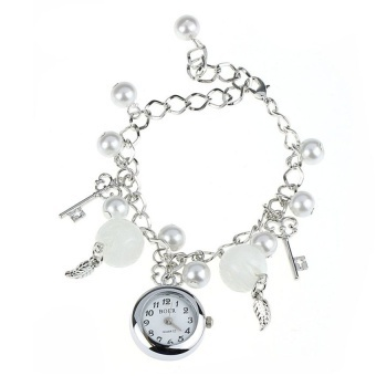 Women GirlCharms Bracelet Wrist Watch Wristwatch - intl