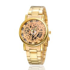 Women Hollow Out Quartz Watch Half A Hollowed-out Watch Waterproof Casual Quartz Watch (Intl)