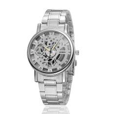 Women Hollow Out Quartz Watch Half A Hollowed-out Watch Waterproof Fashion Quartz Watch (Intl)