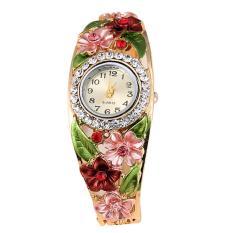 Women Lady Fashion Flower Casual Party Quartz Bracelet Wrist Watch Wristwatch Style A - Intl